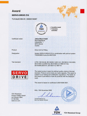 (7) Сертификат соответствия Blum
